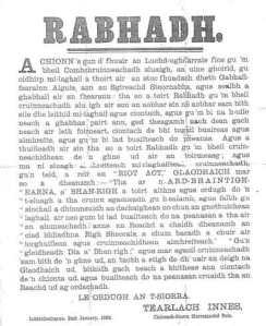 Rabhadh(1)
