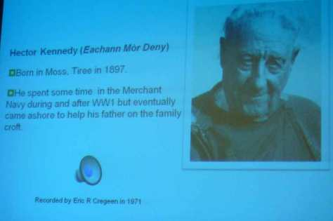 Eachan Mòr Deny- one of the Tiree bàrds covered in Iain's talk
