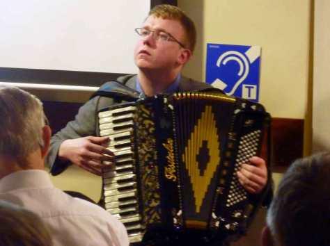 Iain playing the accordion